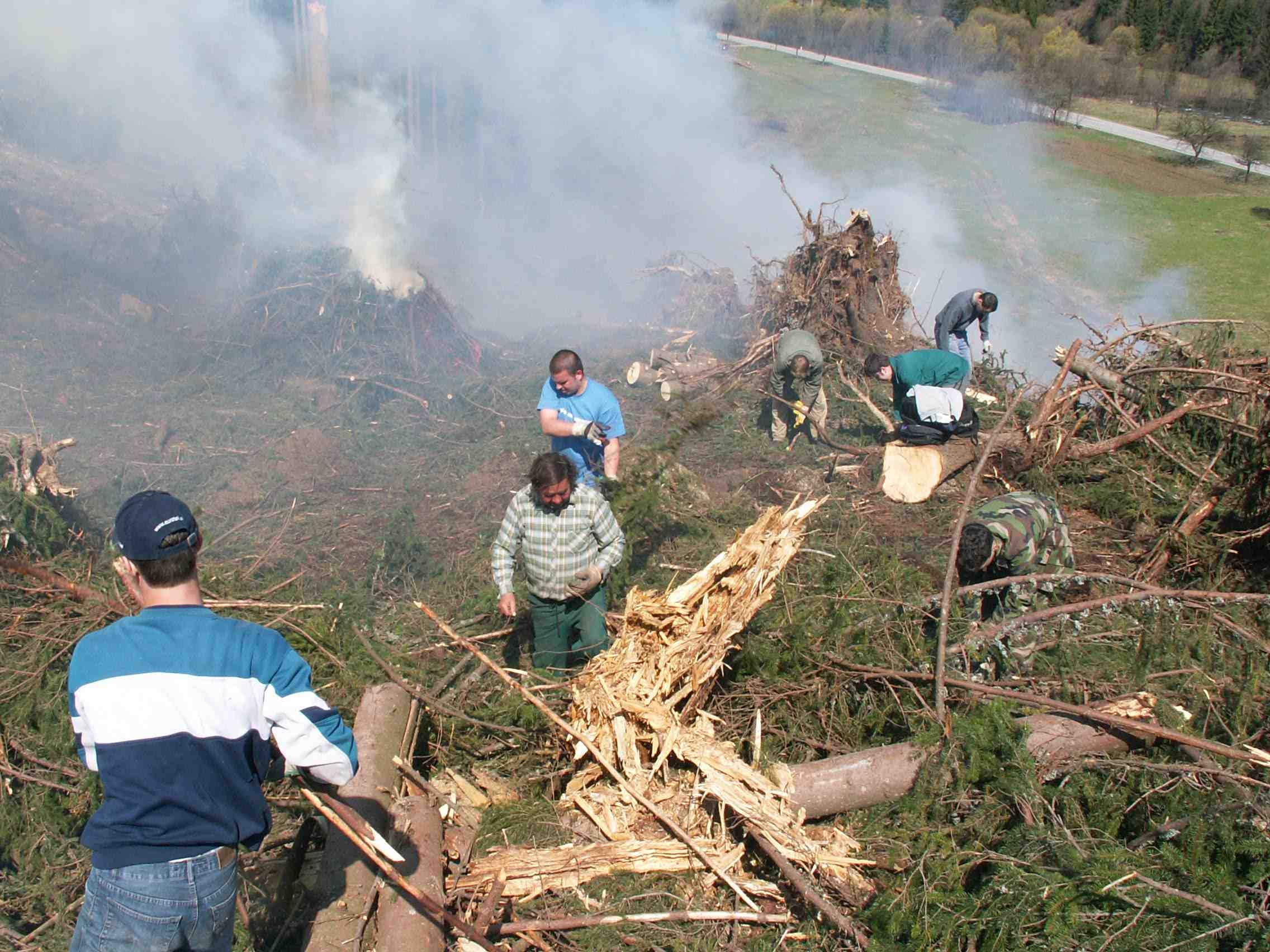 Horný Háj - Kalamita 2005 - čistenie